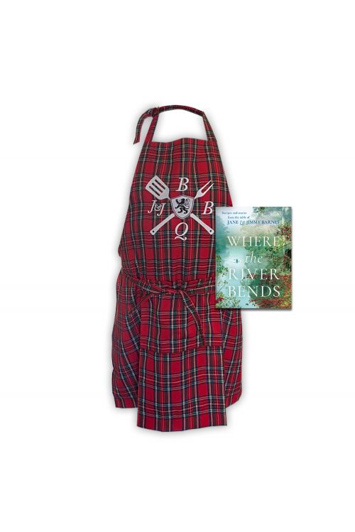 WHERE THE RIVER BENDS (Signed Copy) & APRON by Jimmy Barnes