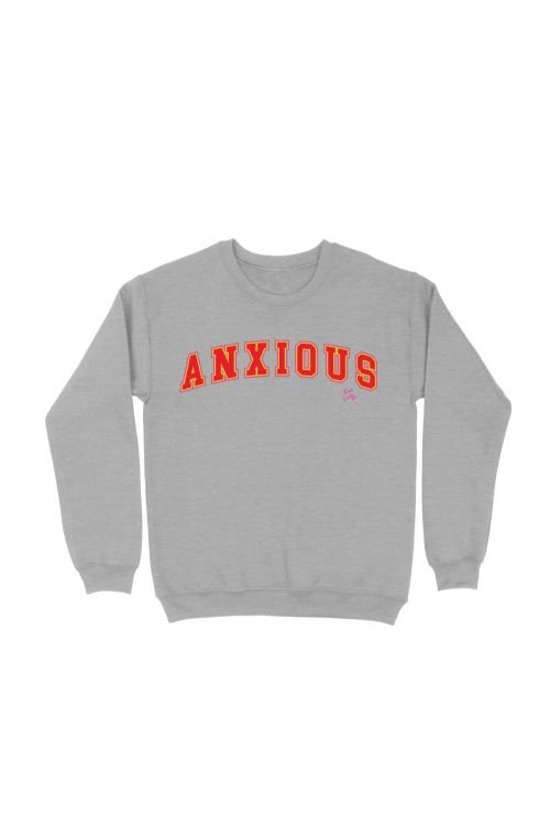 Anxious Grey Marle Sweater by Tom Cardy