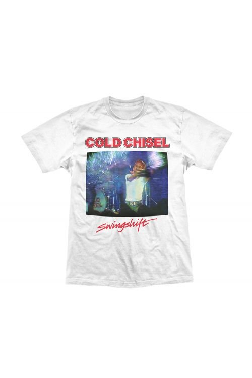 Swingshift White Tee by Cold Chisel