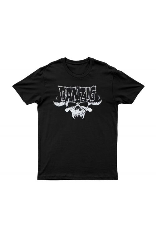 Skull & Logo Black Tshirt by Danzig