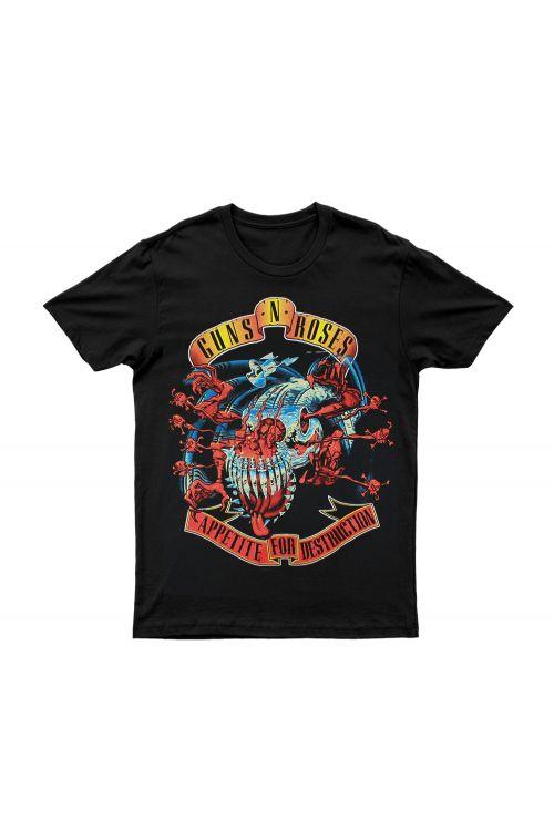 APPETITE MONSTER BLACK TEE by Guns N Roses