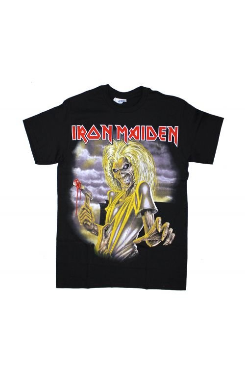 Killers Large Print Black Tshirt by Iron Maiden