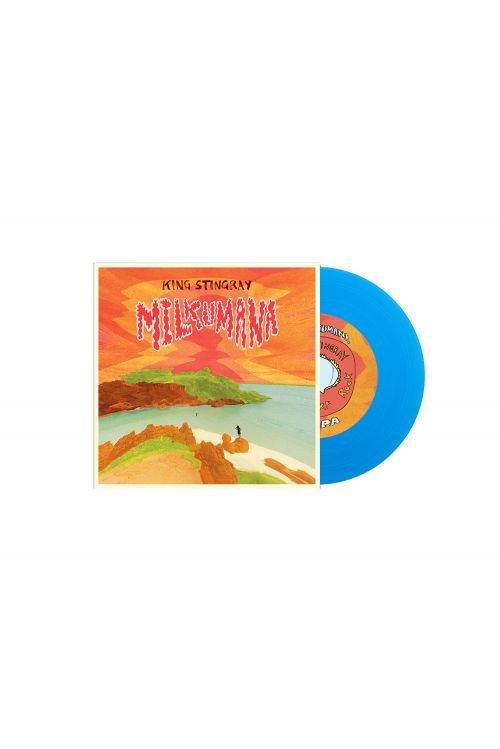 "Milkumana 7"" Blue Vinyl / Milkumana Natural Tshirt by King Stingray"