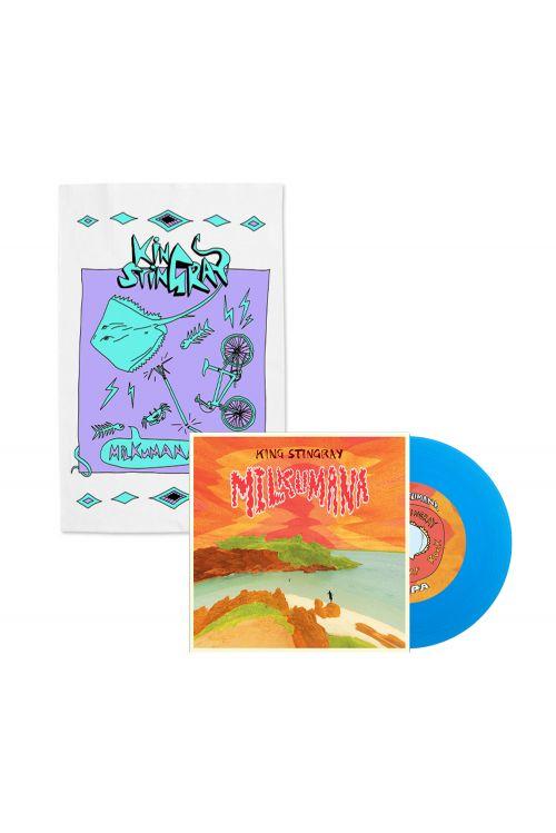 "Milkumana 7"" Blue Vinyl/ Milkumana Tea Towel by King Stingray"