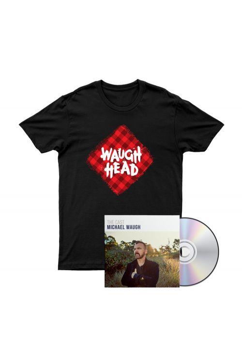 Bundle 1 - The Cast CD, Waugh Head Tshirt by Michael Waugh