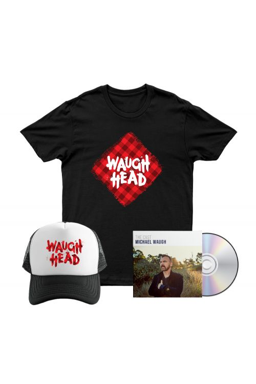 Bundle 3 - The Cast CD, Waugh Head Tshirt, Waugh Head Cap by Michael Waugh