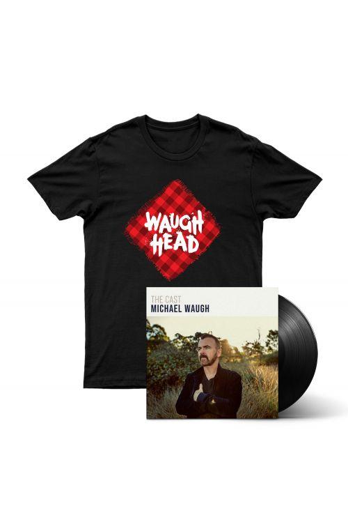 Bundle 4 - The Cast (LP) Vinyl, Waugh Head Tshirt by Michael Waugh