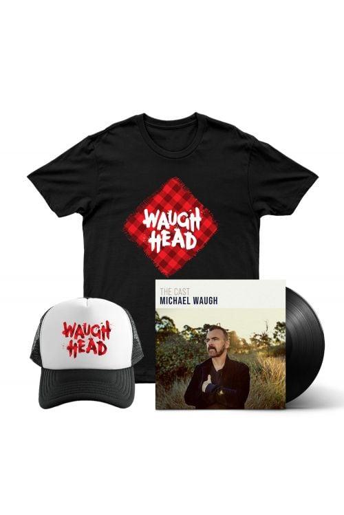 Bundle 6 - The Cast (LP) Vinyl, Waugh Head Tshirt, Waugh Head Cap by Michael Waugh