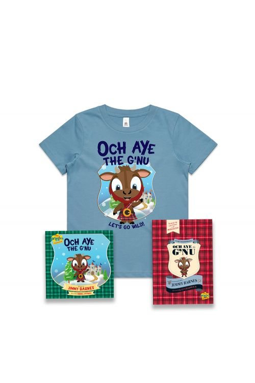 The Recorded Poems of Och Aye The G'nu/ Och Aye The G'nu and Blue Kids Tshirt by Jimmy Barnes
