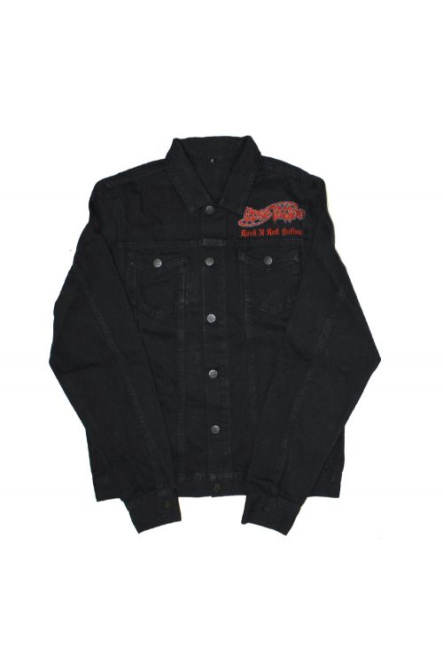 Rock N Roll Outlaw Black Denim Jacket (Limited Edition) by Rose Tattoo
