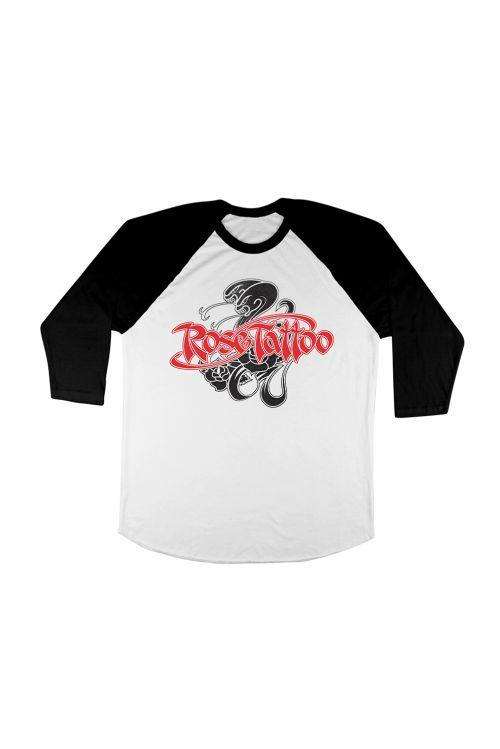 Snakes Black/White Raglan Tshirt by Rose Tattoo