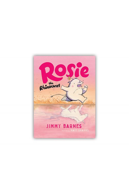 ROSIE THE RHINOCEROS (Signed Copy) ,KIDS PINK TSHIRT & CREAM TOTE BAG by Jimmy Barnes