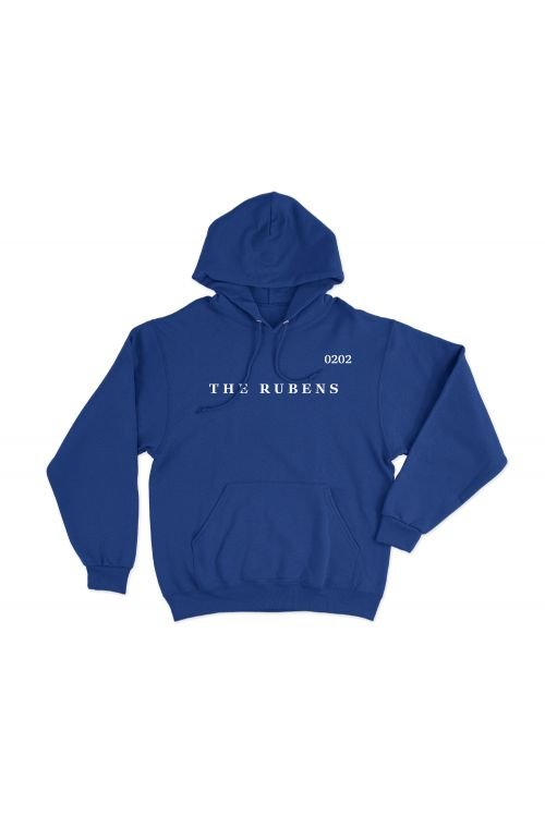 Text Embroidery Blue Hoody by The Rubens