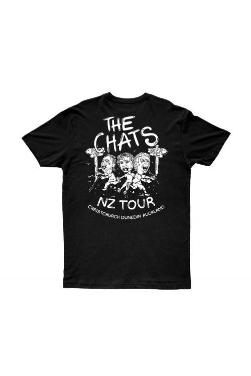 Kiwi Tour Black Tshirt by The Chats