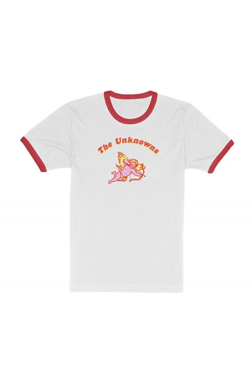 Cupid Multicolour White / red ringer tee by The Unknowns