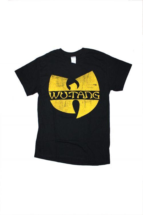 Distressed Logo Black Tshirt by Wu Tang