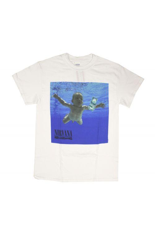 Nevermind White Tshirt w/back print by Nirvana