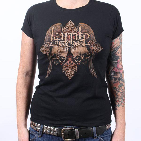 Girls Ornate Black Tshirt Australian Tour 2010