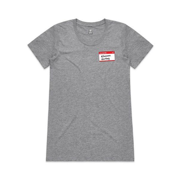 Azeeeee Grey Marle Womens Tshirt