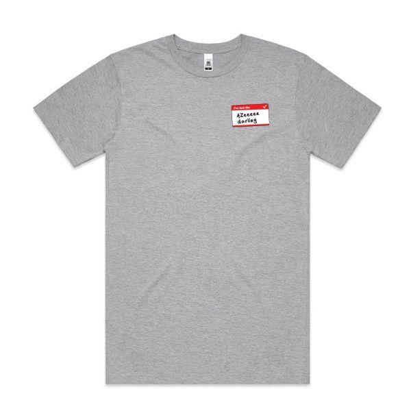 Azeeeee Grey Marle Mens Tshirt