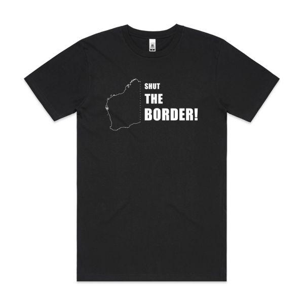 Shut The Border! Mens Black Tshirt