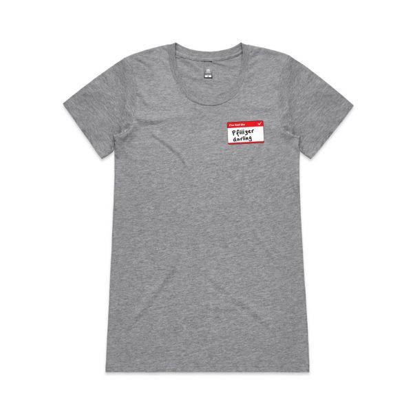 Pfiiiiizer Grey Marle Womens Tshirt