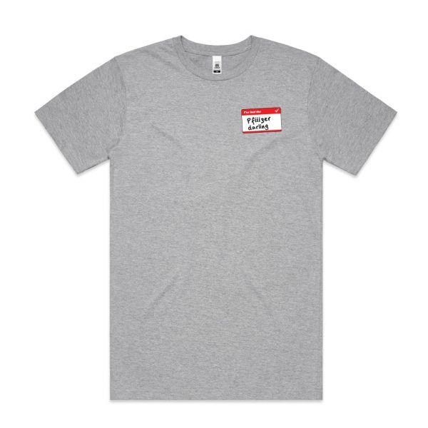 Pfiiiiizer Grey Marle Mens Tshirt