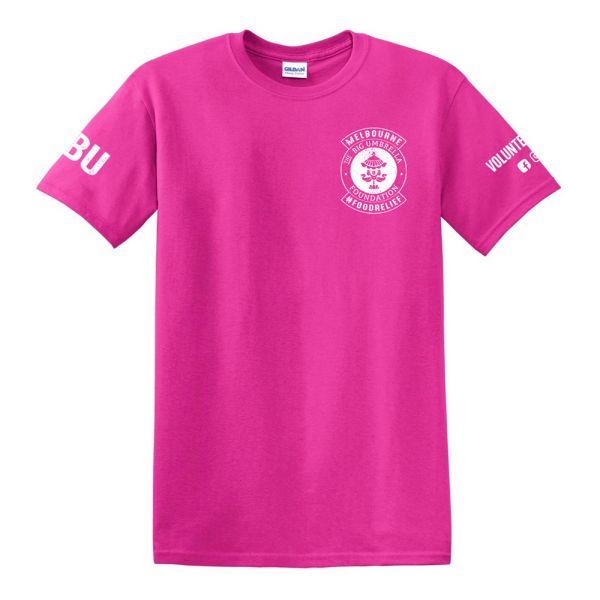 White Logo/Pink Tshirt