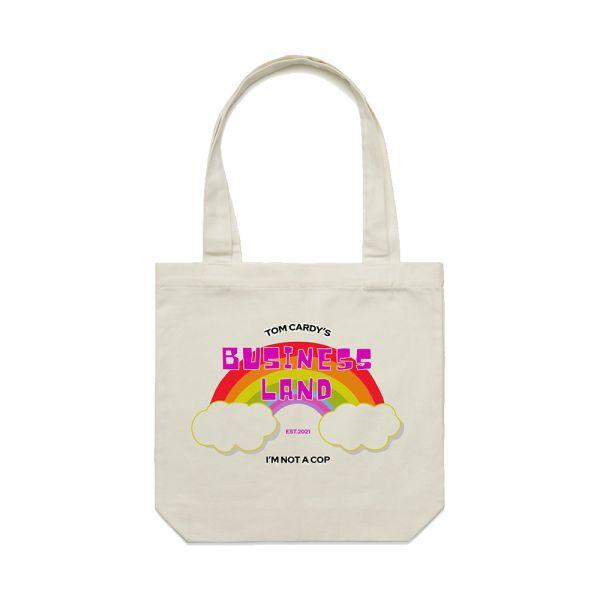 Business Land Natural Tote Bag