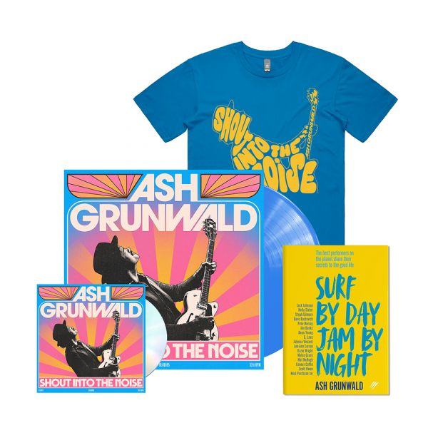 """""""Shout Into The Noise"""" Limited Edition Blue Coloured Vinyl /CD /Book & Exclusive Tshirt"""