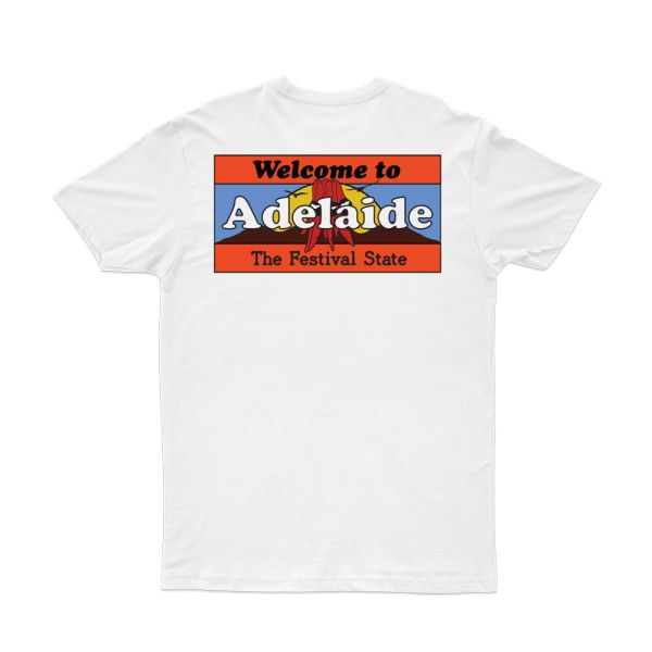 Welcome To Adelaide White Tshirt
