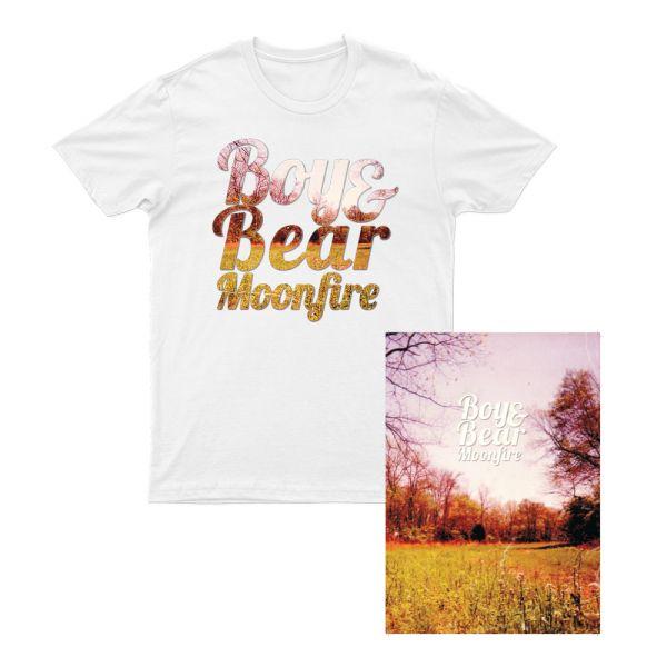 Boy & Bear Moonfire 10 Year Anniversary Poster (NO DATES)/ Tshirt Bundle Pack