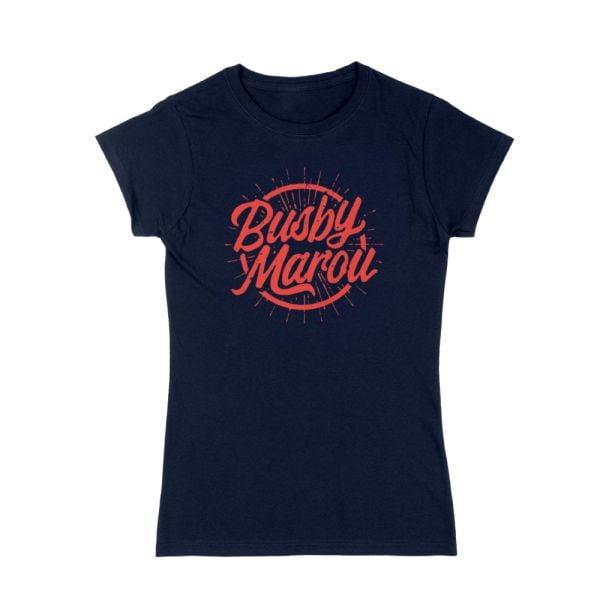 Sound Logo Ladies Navy Tshirt