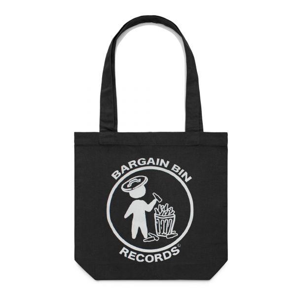 Bargain Bin Records Black Tote