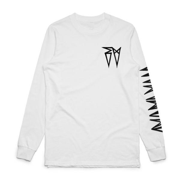 Classic EV Logo White Longsleeve Tshirt