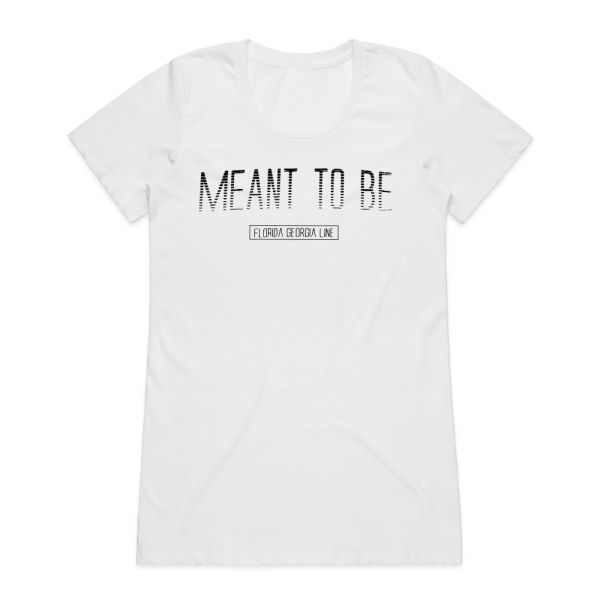 Meant To Be White Womens Tshirt