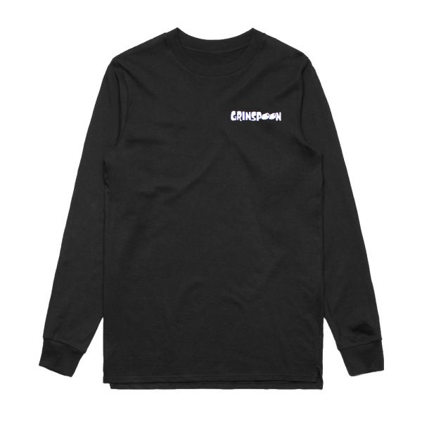 Flame Fink Long Sleeve Black Tshirt