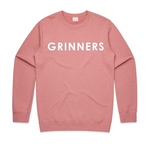 DR. GRINNERS LOGO UNISEX ROSE SWEATSHIRT