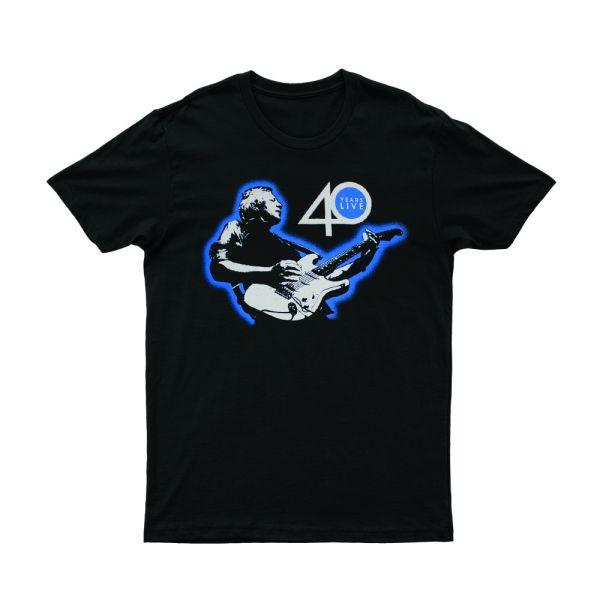 Guitar 40 Years Live Black Tshirt