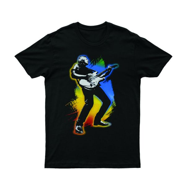 Guitar Full 40 Years Live Black Tshirt