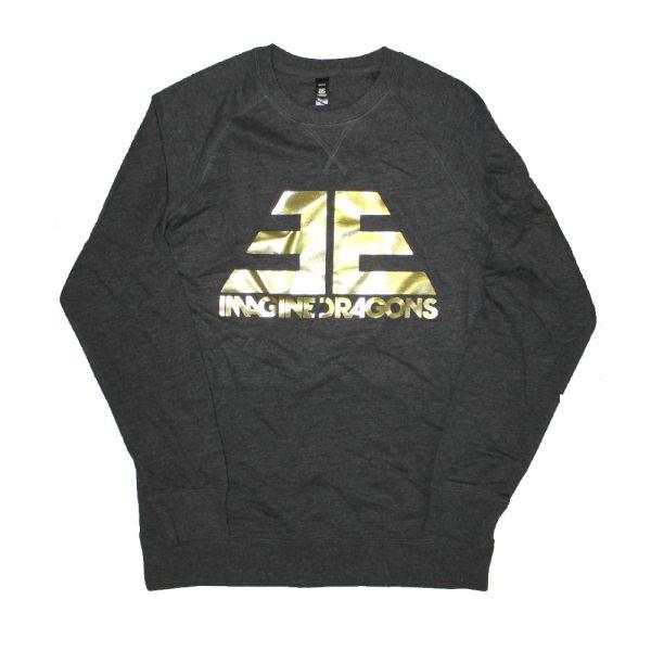 Gold Foil Logo Asphalt Sweater