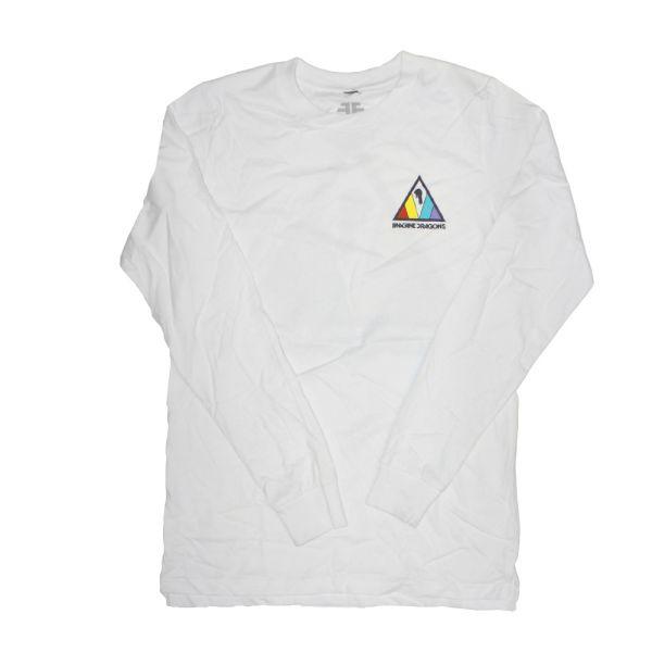 Colorful Triangle White Longsleeve Tshirt