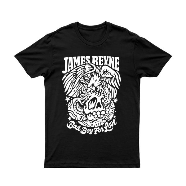 JAMES REYNE BAD BOY BLACK TSHIRT