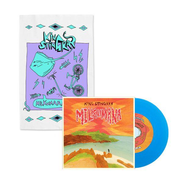 "Milkumana 7"" Blue Vinyl/ Milkumana Tea Towel"
