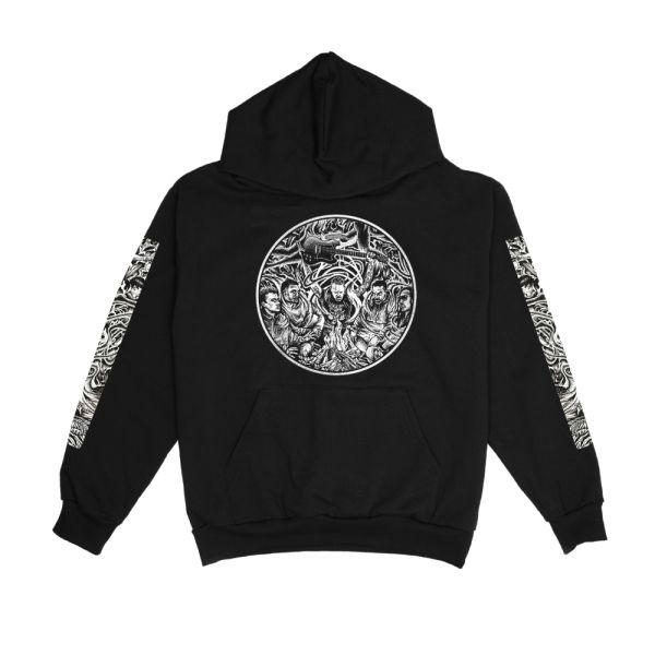 Circle Sleeves Black Hood