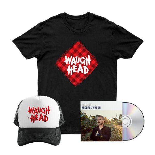 Bundle 3 - The Cast CD, Waugh Head Tshirt, Waugh Head Cap