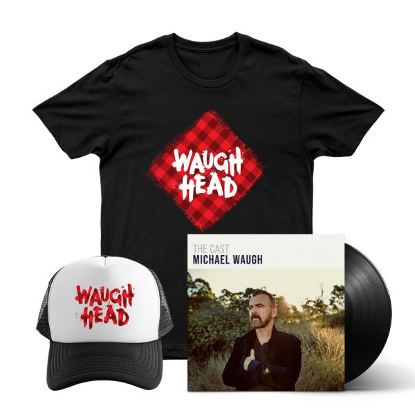 Bundle 6 - The Cast (LP) Vinyl, Waugh Head Tshirt, Waugh Head Cap