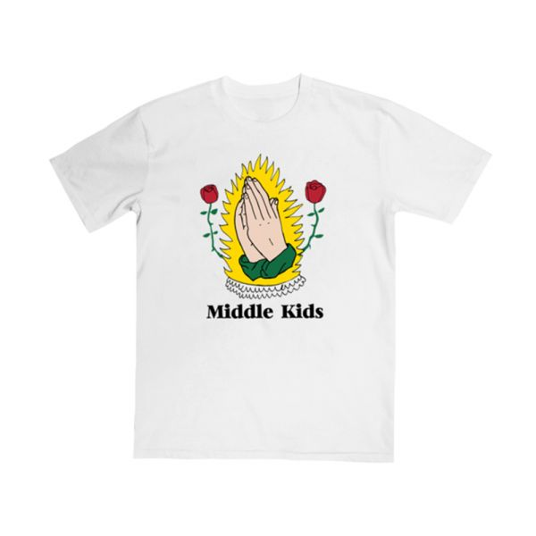 Preying Hands White Tee