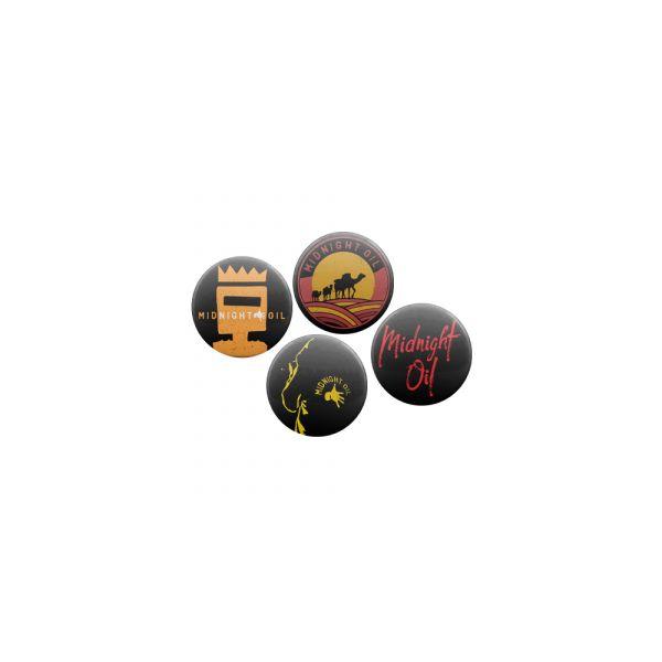 Badge Set Set of 4