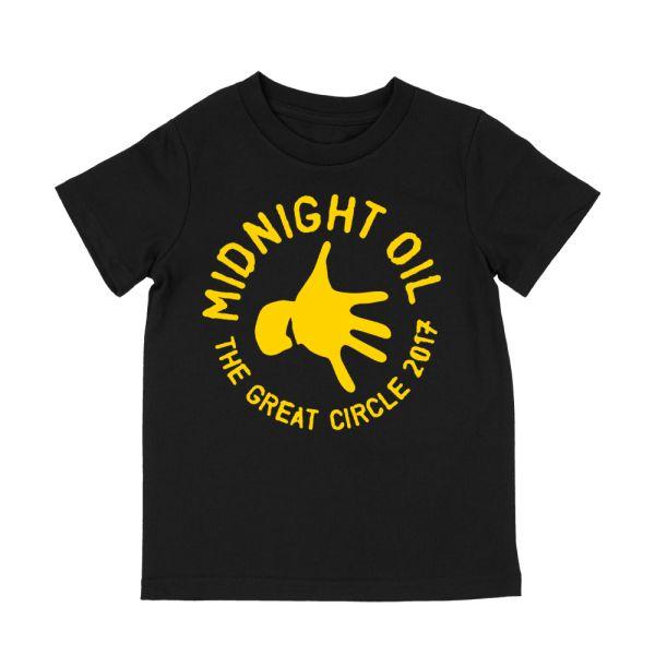 Hand Kids Black Tshirt The Great Circle 2017 Tour